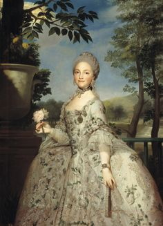 Anton Raphael Mengs: Portrait of Princess Marie Louise of Parma, the later Queen Maria Luisa of Spain. ca. 1765.