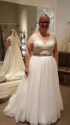 Simple empire waist #plussize #bridal gowns from Darius can be enhanced however you prefer. Custom #plussizeweddingdresses can be made to your exact preferences. If you are a bride on a budget we can also make #replicas of couture designer #dresses for you too. We can work from any pictures of #bridaldresses you #love from the internet. For pricing and more info on custom #weddingdresses please email us directly.