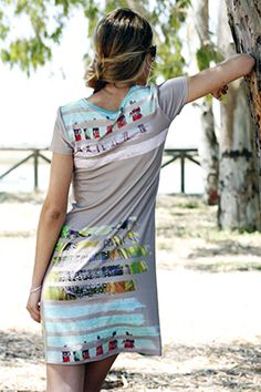 Elisa Cortés-Colección Marea Baja Shirt Dress, T Shirt, Tie Dye Skirt, Skirts, How To Wear, Dresses, Fashion, Spring Summer, Clothes