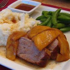 Pork Tenderloin with Apples Allrecipes.com