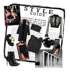 """Style Guide:  Black Black Black"" by adindav ❤ liked on Polyvore featuring Maison Margiela, Yves Saint Laurent, WithChic, Guerlain and Gianvito Rossi"