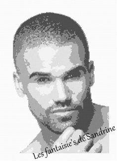 Grille point de croix Shemar Moore : Broderie par les-fantaisie-s-de-sandrine