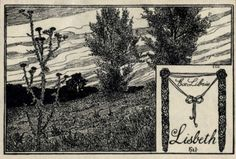 Bookplate by Herman Robert Hirzel Catumby for Lisbeth, 1900c.