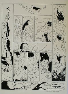 Œuvre originale par Philippe Berthet, Yann dans la catégorie Planches originales