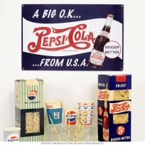 Pepsi-Cola Big OK from USA or CANADA Eh.. Metal Sign $9.99