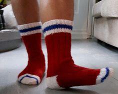 Kit de laine - Bas pour homme (inspiration hockey) # BHK-01