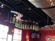 Bottle light fixture.