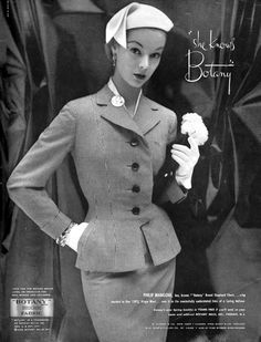 vintage fashion advertisements of the 50's | Botany_fashion_ad_1950s_61205300_large.jpg