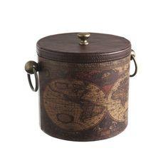 CBK Old World Map Ice Bucket