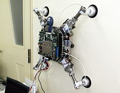 Wall Walking Robot Futuristic Technology, Computer Technology, Technology Gadgets, Robotics Projects, Arduino Projects, Diy Electronics, Electronics Projects, Drones, Learn Robotics