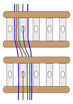 Diagram to double the sett of the rigid heddle loom when using two heddles.