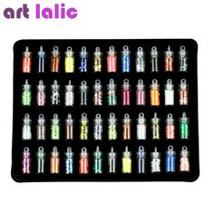 94b51144834 [Visit to Buy] Artlalic 48 Bottles Nail Art Rhinestones Beads Sequins  Glitter Tips Decoration