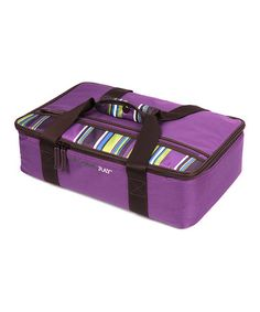 Loving this Purple Stripe Lasagna Lugger on #zulily! #zulilyfinds