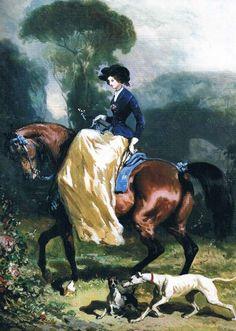 Unidentified portrait, Alfred de Dreux   In the Swan's Shadow