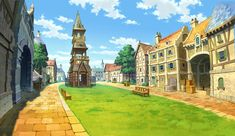 Labyrinthia Town Square from Professor Layton vs. Phoenix Wright: Ace Attorney