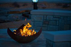 This photo of the King Isosceles Sculptural Firebowl™ at WaterWalk Place in Wichita is stunning! Chris did a great job of shooting a night photo that still gives a sense of the landscape around the firebowl.