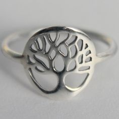 Silver Tree of Life Ring 925 sterling silver by HeartCoreDesign, $16.50