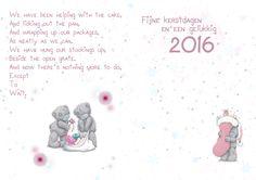 gepersonaliseerde kerst kaart binnen kant ,tatty teddy