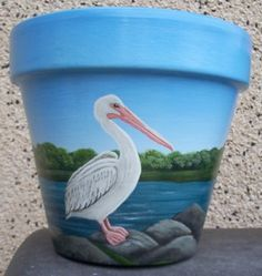 Sea art paintings on clay pots.  #claypots