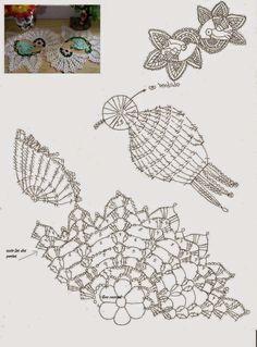 grafico asa passarinho em croche - Pesquisa Google