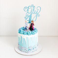Elsa Birthday Cake, Birthday Drip Cake, Frozen Themed Birthday Cake, Frozen Theme Cake, Themed Cakes, Elsa Frozen Cake, Frozen Cake Topper, 5th Birthday, Birthday Ideas