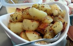 Eat Your City: Oven roasted garlic and herb crispy potato wedges recipe. bacon puts it over the top! Part 4 of Breakfast and brunch series! Crispy Potato Wedges, Potato Wedges Recipe, Roasting Garlic In Oven, Oven Roast, Gf Recipes, Home Recipes, Free Gf, Gluten Free, Bacon Potato