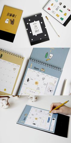 Boo! This 2017 Ghost Pop Calendar features ghost illustrations, but are not terrifying at all! As a matter of fact, you will fall in love with this calendar with all the cute and adorable drawings of the ghosts placed throughout the calendar! This lightweight and stylish calendar is exactly what your desk needs.