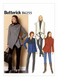 Sewing Patterns Coat Jackets Wrap Capes Variations Butterick Simplicity Easy