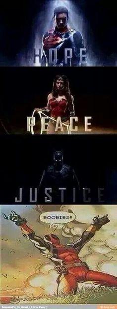 #Deadpool & boobies ('cuz a hero's gotta have priorities that make sense!)
