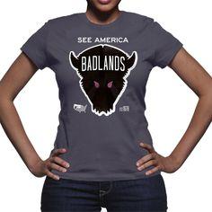 Badlands National Park T-Shirt by Matt Brass for See America - 3