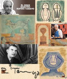 Happy Belated Birthday, Mexican Artist RUFINO TAMAYO Born: August 25, 1899, Oaxaca, Mexico Died: June 24, 1991, Mexico City, Mexico R.I.P. A Mexican painter of Zapotec heritage, born in Oaxaca de Juárez, Mexico. Tamayo was active in the mid-20th century in Mexico and New York, painting figurative abstraction with surrealist influences. From The ipi Archives; *ipi TAMAYO Couple 9'' x 11.3'' Paper *ipi TAMAYO Blue Face 9'' x 11'' Paper *ipi TAMAYO Dog Show 9.75'' x 9.25'' Paper *ipi TAMAYO…