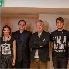 Alan Rickman with MARK film team at Camerimage Festival Bydgoszcz Poland 16.11.2014
