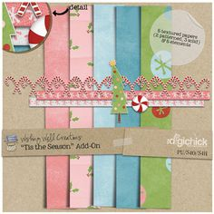 Tis the Season tiny kit freebie from Wishing Well Creations #christmas #digiscrap #scrapbooking #digifree #scrap #freebie #scrapbook