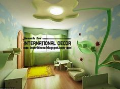 Modern kids room ceiling designs and drywall, plasterboard ceiling for kids