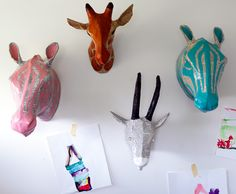 Dwell Studio papier mache heads exclusive to Kido Store
