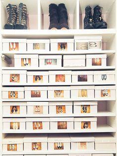 Organización de zapatos