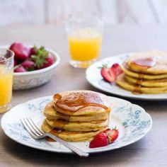 Wake up to spicy Pumpkin Pancakes hot from the griddle! Serve with Pumpkin Maple Sauce for a special breakfast.