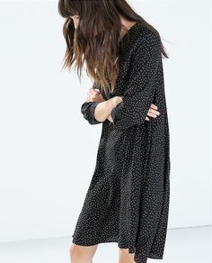 Image 4 of POLKA DOT DRESS WITH BOW from Zara