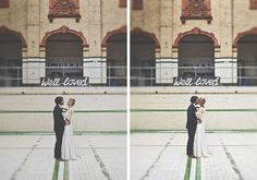Cool 1960s Inspired Wedding In A Unique Venue - The Victoria Baths in Manchester, UK | photos by Howell Jones Photography
