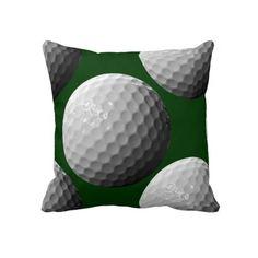 sports golf balls throw pillow from Zazzle.com