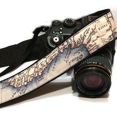 Vintage Map Camera Strap, dSLR Camera Strap, SLR, Nikon, Canon Camera Strap, Men, Women Accessories by CameraStraps4You on Etsy