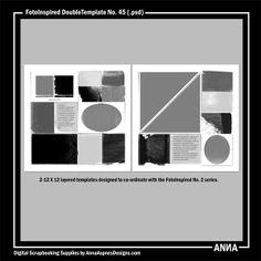 Oscraps :: Shop by Designer :: Anna Aspnes Designs :: FotoInspired DoubleTemplate No. 45