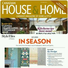 Thank you House & Home for featuring our newest Tres Tintas Barcelona Mayolica mural. We love this exotic print in amber!  Thank you House & Home for featuring our newest Tres Tintas Barcelona Mayolica mural. We love this exotic print in amber!  https://www.facebook.com/houseandhomemagazine