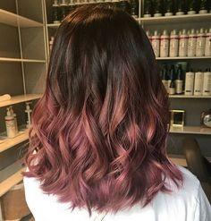 Balayage Hair Color 2018-2019 Dark Brown with Reddish Hue