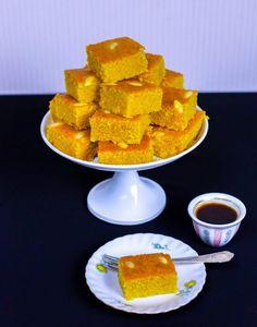 Sfouf- Libanesisk mannagrynskaka med gurkmeja - ZEINAS KITCHEN