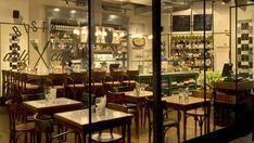 Basic Collection, Bistro Grinberg Tel Aviv #telaviv #israel #bistro #furniture #contract #chair #table #interior #shelf #restaurant #barstool