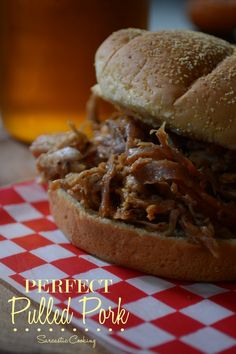 Perfect Pulled Pork - Was still quite tough after 5 hours in oven/1 hour rest. BUT, absolutely delicious after a few hours in the crock pot the next day.