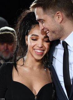 So sweet: Robert Pattinson and fiancee FKA twigs shared tender moments on the red carpet at The Lost City of Z UK Premiere at The British Museum