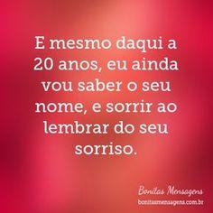 Eu acredito nesta frase !!! Eu acredito em saudades de pessoas que mesmo em pouco tempo marcam nossas vidas !!! E a elas desejo toda sorte de um bom amor e de vida satisfatória !!! Com carinho !!! ❤