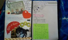 Goals, pictures, quotes :) keep memories in a smash book everyday journal :)